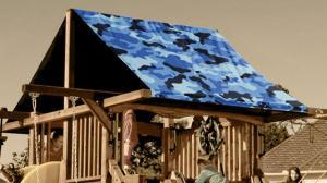 Custom Graphic Camouflage Canopies and Tarps - Swing Set Paradise