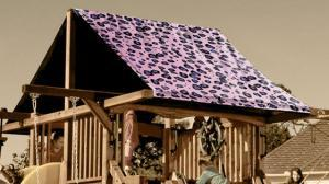 Custom Graphic Cheetah Canopies and Tarps - Swing Set Paradise