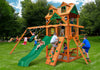 Gorilla Playsets Chateau Malibu Wood Roof Swing Set