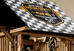 Custom Graphic Canopies and Tarps - Swing Set Paradise