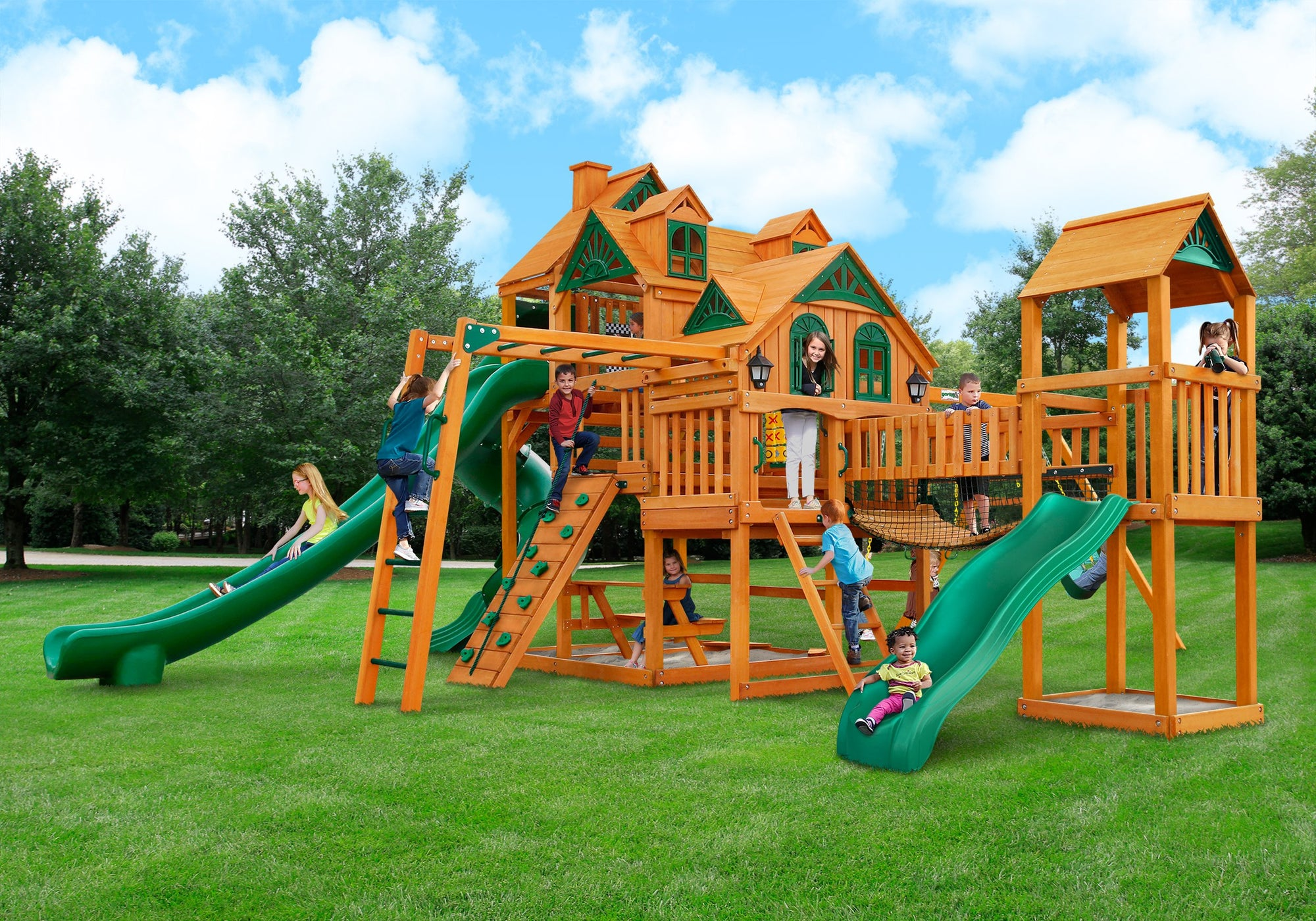 Gorilla Playsets Empire Extreme Swing Set - Kids