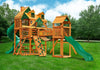 Gorilla Playsets Treasure Trove I Malibu Wood Roof Swing Set - Swing Set Paradise