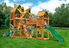 Gorilla Playsets Treasure Trove I Malibu Roof Wooden Swing Set (01-0077-AP)
