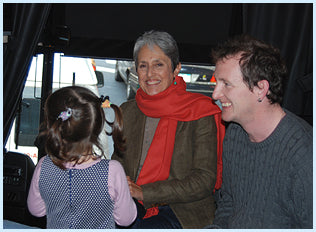 Joan Baez with son and granddaughter