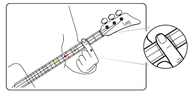 Open A tuning on Loog Guitar