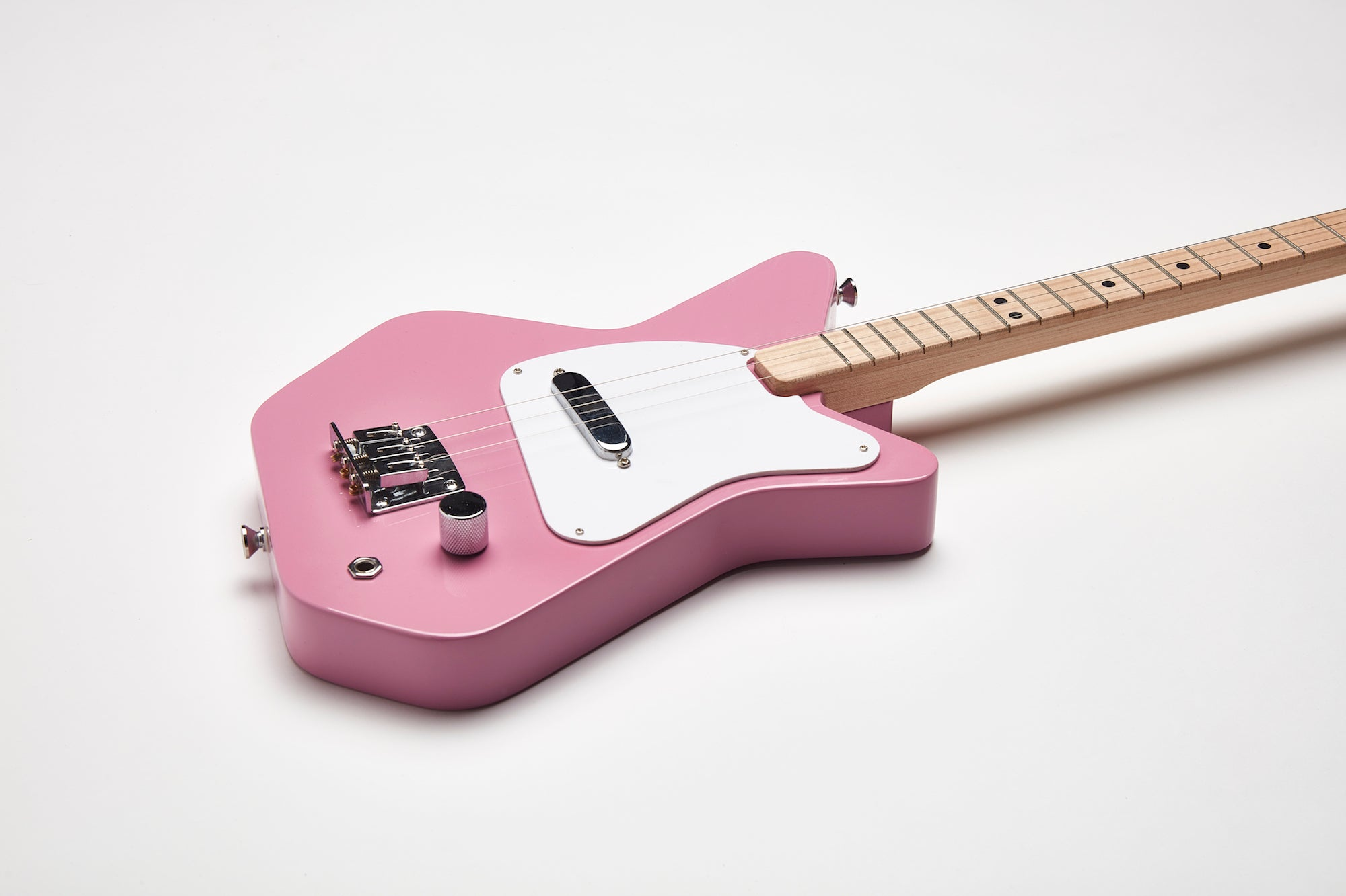 Loog Pro Pink Electric guitar for kids - Detail
