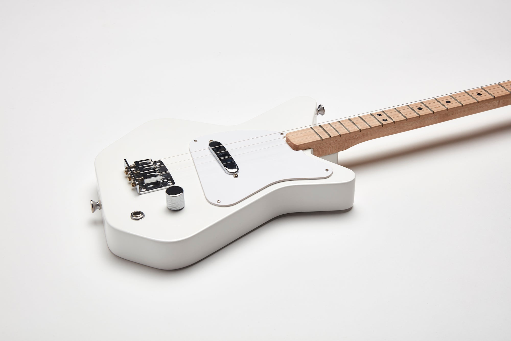 Loog Pro Electric guitar for kids - White - Detail