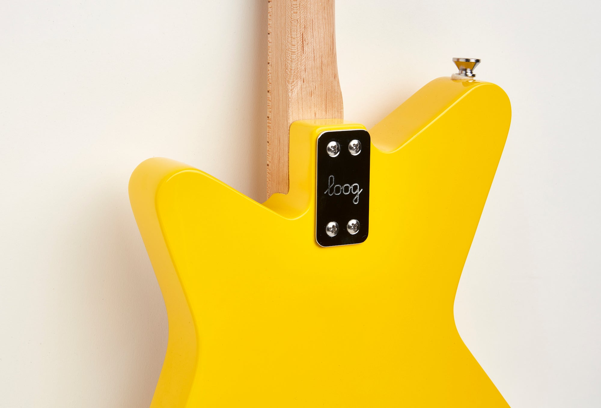 Loog Pro Electric guitar for kids - Yellow - Back Closeup