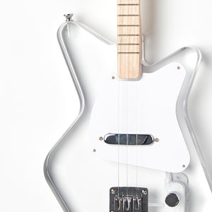 Loog Pro Electric guitar for kids - Lucite Acrylic Transparent - Body Closeup