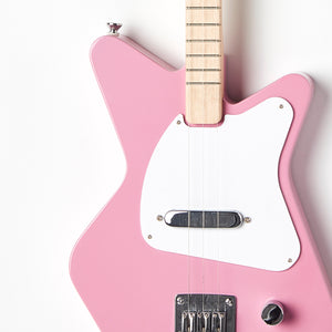 Loog Pro Pink Electric guitar for kids - Body Closeup