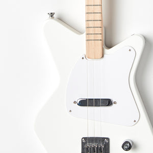 Loog Pro Electric guitar for kids - White - Body Closeup