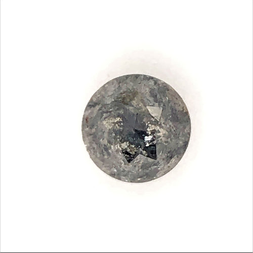 1.83ct Round-Rose Cut Salt and Pepper Diamond