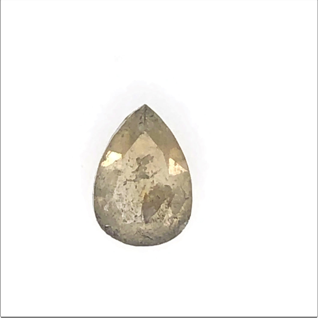 .55ct Pear/Rose Cut Salt and Pepper Diamond