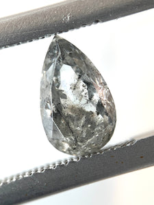 1.27ct Pear Cut Salt and Pepper Diamond