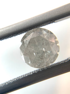 1.45ct Icy White Round Brilliant Cut Salt and Pepper Diamond