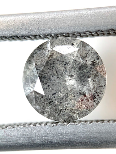 1.03ct Dusky Grey Round Brilliant Cut Salt and Pepper Diamond (out)