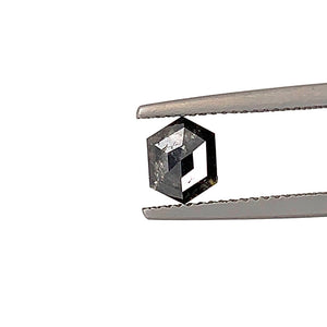 .92ct  Hex Cut Salt and Pepper Diamond