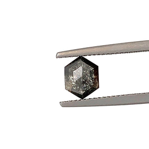 1.32ct Hex Cut Salt and Pepper Diamond
