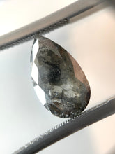 Load image into Gallery viewer, 3.57ct Pear Cut Dark Grey Salt and Pepper Diamond