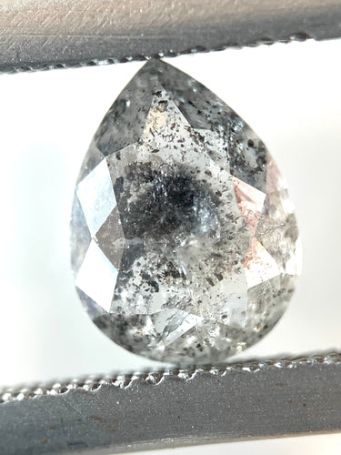 1.39ct Pear Cut Salt and Pepper Diamond
