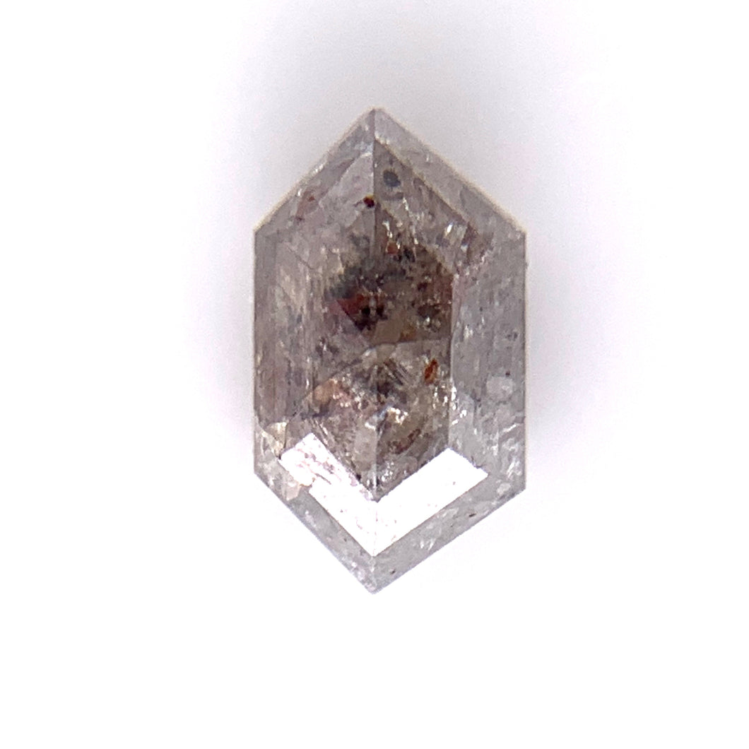 .80ct Hex/Rose Cut  Salt and Pepper Diamond
