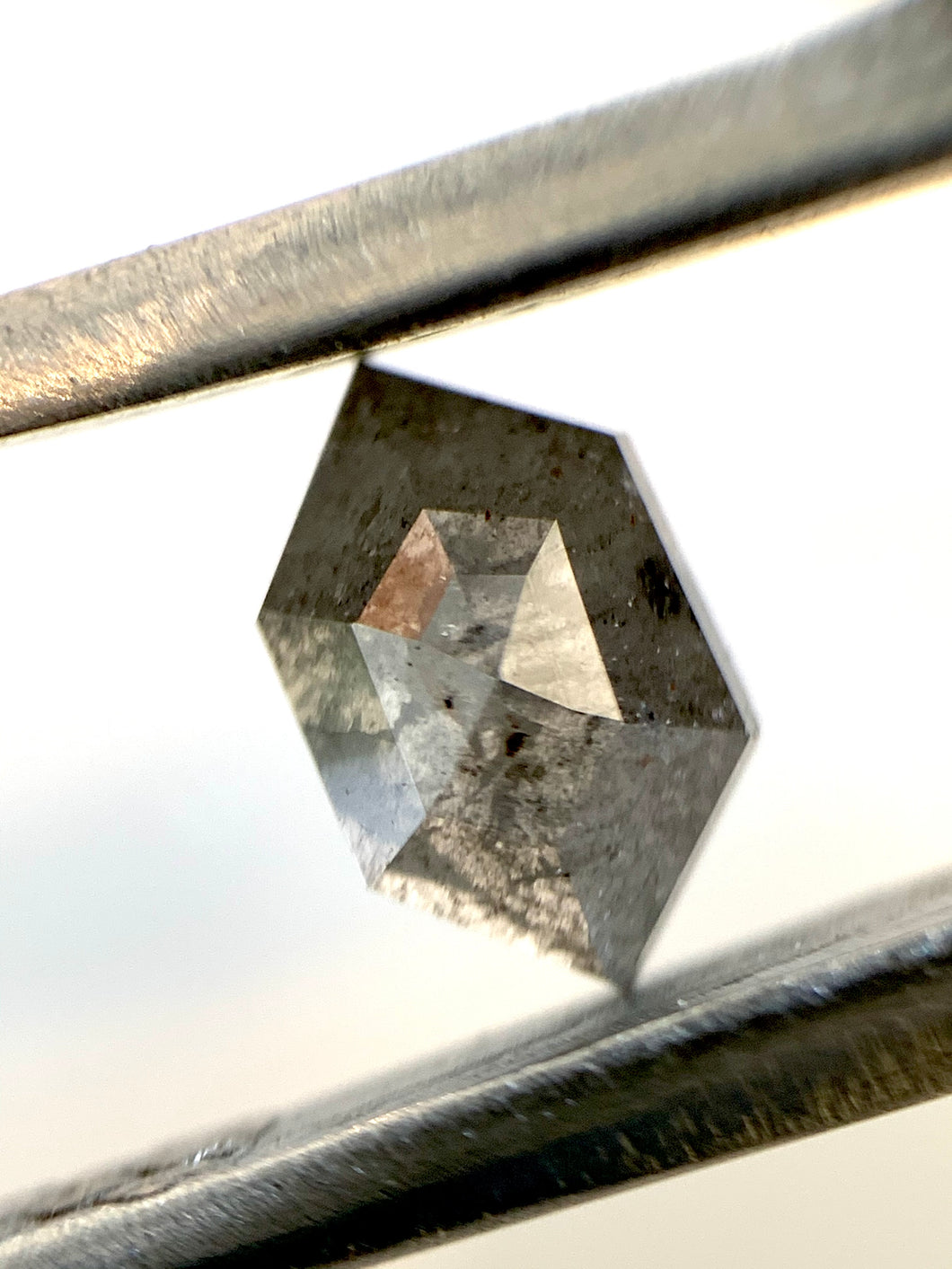 1.03ct Hex Cut Mid Smokey Grey Salt and Pepper Diamond