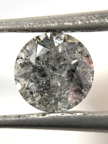 1.01ct Round Brilliant Cut Salt and Pepper Diamond(out with retailer)