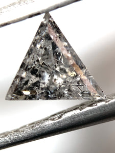 .56ct Triangle Cut Salt and Pepper Diamond