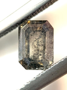 1.21ct Emerald Cut Cognac/Salt and Pepper Diamond