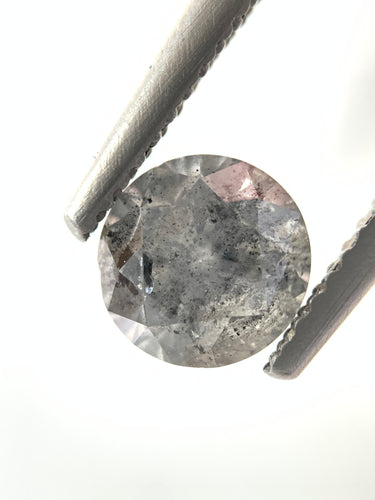 1.32ct Round Brilliant Cut Salt and Pepper Diamond(out with retailer)