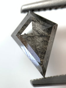 1.41ct Kite Cut Salt and Pepper Diamond