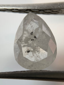 "1.96ct  Pear Cut ""Salty"" Salt and Pepper Diamond"