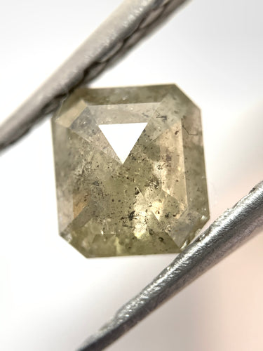 1.39ct Emerald Cut Salt and Pepper Diamond