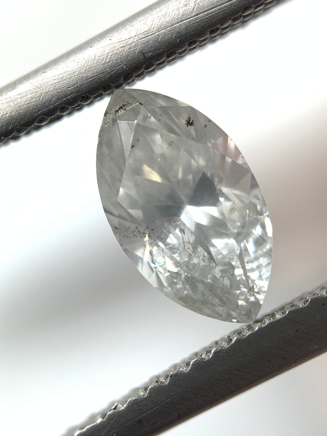 1.22ct Marquise Cut Salt and Pepper Diamond