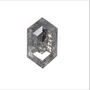 .98ct Hex Cut Salt and Pepper Diamond