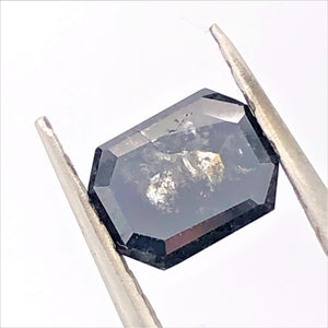 Emerald Cut Salt and Pepper diamond