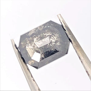 1.48ct Emerald Cut  Salt and Pepper Diamond