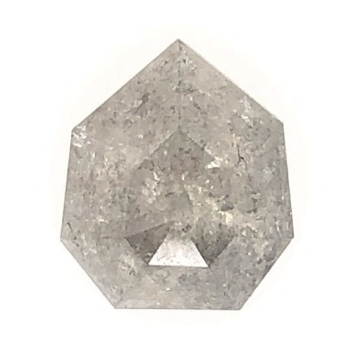 1.55ct Shield Cut Salt and Pepper Diamond