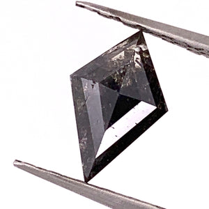 1.52ct Kite Cut Salt and Pepper Diamond