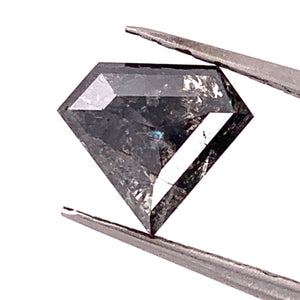 2.33ct Shield/Superman Cut Salt and Pepper Diamond