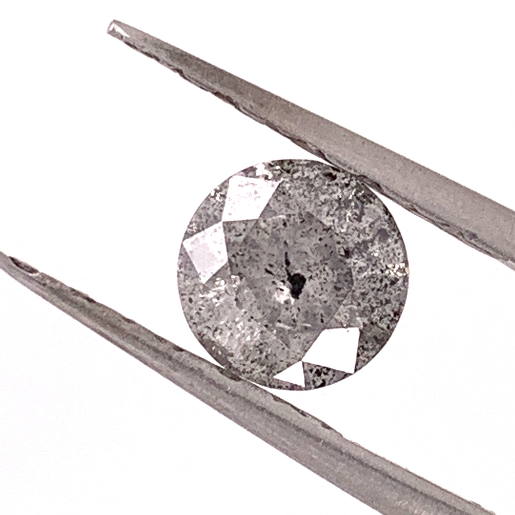 1.35ct Round Brilliant Cut Salt and Pepper Diamond