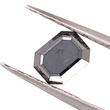 Load image into Gallery viewer, 1.71ct Emerald Cut Black Diamond
