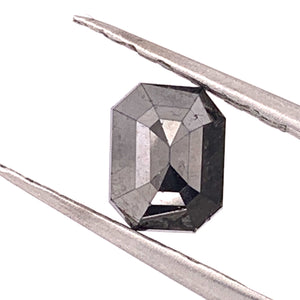1.71ct Emerald Cut Black Diamond