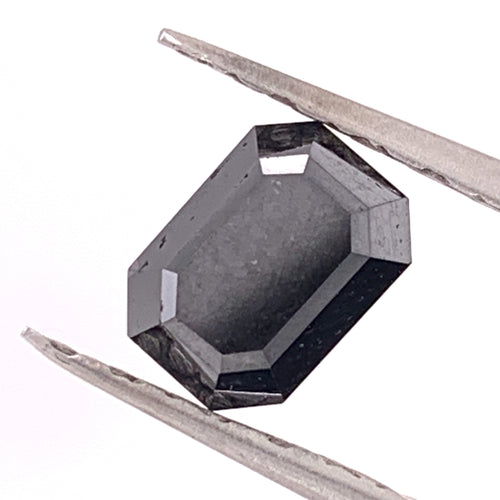 2.56ct Emerald Cut Black Diamond