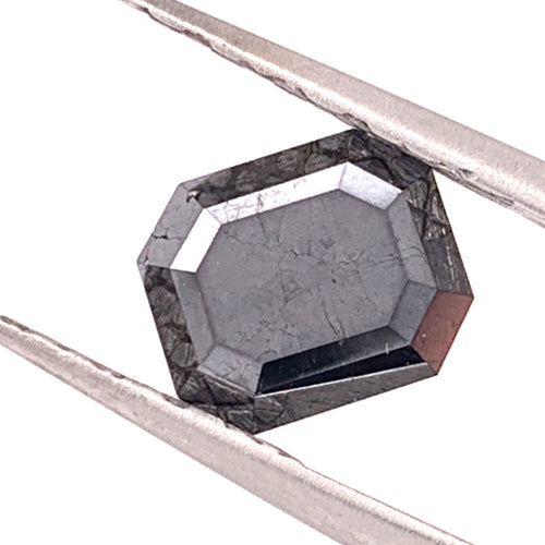 3.15ct Emerald Cut Black Diamond