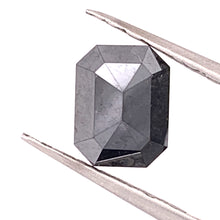 Load image into Gallery viewer, 2.96ct Emerald Cut Black Diamond