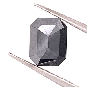 2.96ct Emerald Cut Black Diamond