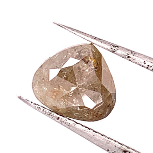 1.84ct Pear Rose Cut Salt and Pepper Diamond