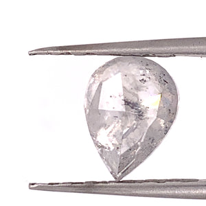 3ct Pear Cut Ghost Salt and Pepper Diamond (Video Available)