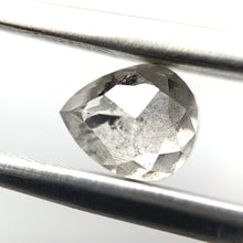 "Load image into Gallery viewer, 1.30ct Pear Cut Salt and Pepper Diamond ""Flying Bird"""